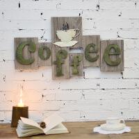 美式乡村实木铁艺咖啡杯壁挂 咖啡厅休闲吧装饰品工艺品