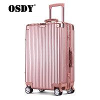 【可礼品卡支付】OSDY登机箱新款铝框箱高档商务箱20寸行李箱