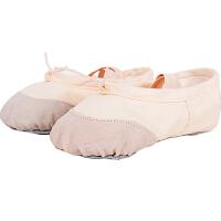 捷�N 成人幼儿童舞蹈鞋软底猫爪鞋女童芭蕾舞鞋女款练功鞋帆布瑜伽鞋