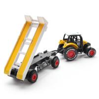 跨境合金车农夫拖拉机油罐拖车 回力儿童玩具车模型汽车礼物