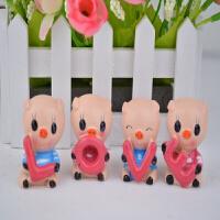 love小猪汽车装饰品爱心猪树脂工艺品可爱生肖卡通摆件 13cm*8cm