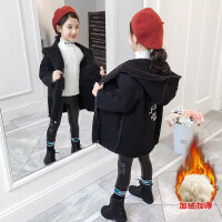 2019新款时髦洋气童装小女孩冬装加厚外套女童毛呢大衣