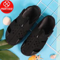 Nike/耐克童鞋新款运动休闲舒适透气魔术贴沙滩鞋防水包头凉鞋943826-001