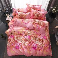 床上四件套纯棉1.5m宿舍全棉被套床单三件套单人双人简约套件1.8
