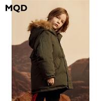 MQD童装男童中长款羽绒服2019冬装新款儿童连帽大毛领保暖外套潮