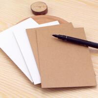 DIY空白明信片水彩卡片纸 单词卡手绘贺卡牛皮纸卡片荷兰白卡