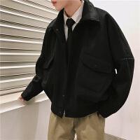 秋冬季男士工装呢料夹克韩版加厚潮流ulzzang毛呢大衣短款外套男