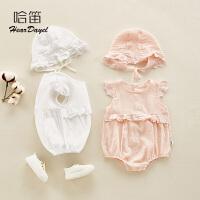 婴儿夏装睡衣宝宝夏季婴儿洋气薄款连体衣服可爱外出哈衣