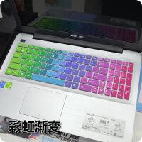 华硕键盘贴膜15.6寸FX-PRO飞行堡垒fx50j a550jk4200 f555l ux501 彩虹色