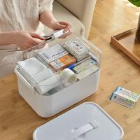 大药箱 家用大号药品收纳盒 医疗箱家庭装大容量家庭收纳医药箱