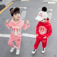 2019新款童装休闲秋装运动两件套1-3岁男女童套装