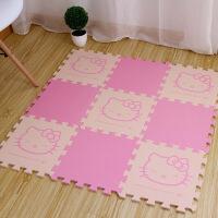 新品儿童接拼地垫卡通拼图地垫 儿童爬行垫 凯蒂猫泡沫拼接地垫hellokitty30 30*30*1厘米9片装