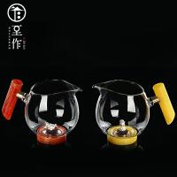 平水 公道杯玻璃加厚分茶器耐热高温家用茶海功夫公杯茶器