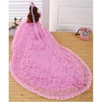 巴比娃娃套装女孩公主女童玩具大号芭娃娃婚纱娃娃摆件超大90厘米 粉色 音乐款 48厘米高85厘米拖尾