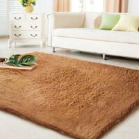 自由城 超顺滑加厚丝毛 客厅地毯 茶几地毯 卧室地毯 80*120cm驼色80*120cm
