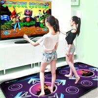中文高清运动机跳舞毯电视电脑加厚体感手舞发光电视电脑两用单人跳舞毯加厚双人跳舞毯减肥