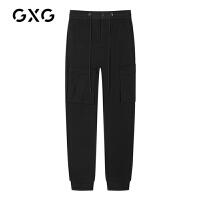 【特价】GXG男装 冬季韩版宽松直筒束腿裤潮牌休闲长裤GY102067GV