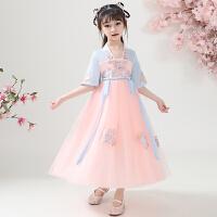 儿童汉服女童夏装中国风童装唐装连衣裙女孩樱花公主古装