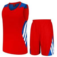 男款篮球服套装夏新款透气吸汗比赛训练篮球衣定制DIY印字印号
