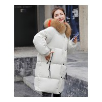 少女棉衣女中长款冬季新款宽松棉袄加厚羽绒外套面包服