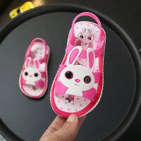 一岁宝宝夏季塑料凉鞋男0-1-2岁女学步鞋软底家居小公主室内