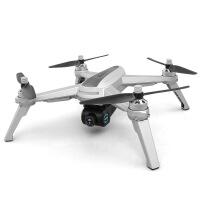 有摄像头的无人机拍照飞机高清专业无刷电机航拍高清GPS四轴飞行器智能遥控玩具 银色 无刷电机GPS定位