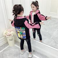 女童中长款棒球服洋气外套2019新款春秋韩版儿童夹克