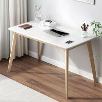 书桌北欧家用电脑台式桌实木学习桌写字台简约小户型卧室办公桌子