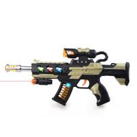 宜佳达 儿童玩具枪电动枪声光震动男孩玩具冲锋枪小孩宝宝礼物2-6岁六一儿童节礼物 送3节5号电池