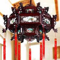 中式仿古实木宫灯荷花灯笼喜庆春节过道茶楼过年装饰吊灯具