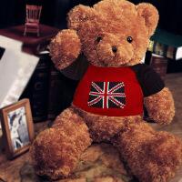 泰迪熊公仔大�1.6米毛�q玩具大熊送女友娃娃生日�Y物可�叟�孩睡�X抱 英��熊 棕色