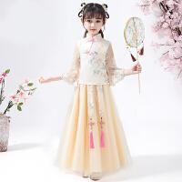 儿童汉服女春秋女童古装夏装中国风唐装童装连衣裙