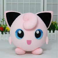 宠物小精灵神奇宝贝口袋妖怪胖丁公仔毛绒玩具玩偶抱枕动漫周边 粉红色 35*28厘米
