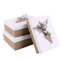 长方形礼品盒 大号礼物包装盒 七夕情人节*礼品盒生日礼物包装盒