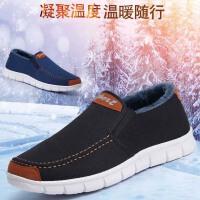 老人鞋老北京布鞋男棉鞋休闲高帮冬季鞋子男士运动休闲鞋加绒保暖