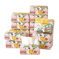 【12包】 蓝漂竹浆抽纸白色12包卫生纸餐巾纸面巾纸 提袋装