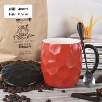 简约ins茶隔马克杯带盖勺杯子陶瓷咖啡杯办公室家用过滤泡茶水杯