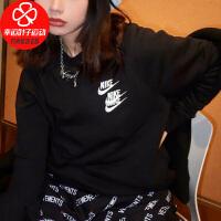 Nike/耐克男装新款运动服休闲上衣宽松舒适透气圆领三勾套头衫DD0883-010
