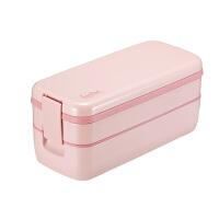 双层便当盒可微波炉加热分隔式午餐盒带筷子