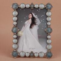 个性创意金属相框摆台 欧式婚纱照 简约现代北欧玻璃摆台