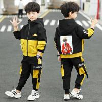 2019春秋季新款童装中大童帅气男孩洋气两件套男童秋装套装