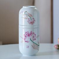 便携快客杯 一壶两杯简茶壶茶杯 陶瓷旅行小罐茶功夫茶具套装