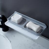 香皂盒肥皂架吸盘壁挂式沥水双层创意置物架家用浴室卫生间免打孔