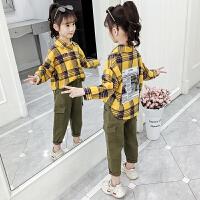 2019春秋季新款儿童洋气时髦童装韩版两件套女童秋装套装