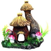 鱼缸假山蘑菇房子水族箱造景水景装饰爬虫爬虫昆虫洞乌龟洞窝躲避