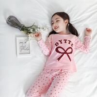 2019新款儿童夏季薄款两件套中大童睡衣女童内衣套装