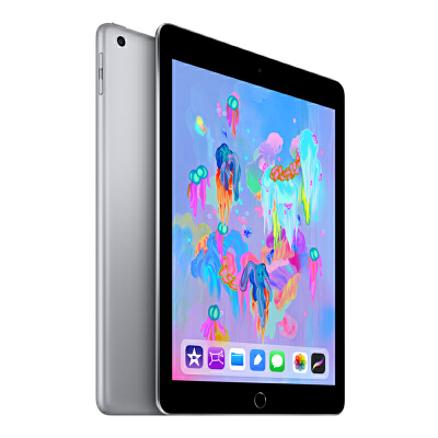 Apple iPad 平板电脑 2018新款9.7英寸(32G WLAN版/A10 芯片/Retina显示屏/Touch ID技术 MR7F2CH/A)深空灰色国行正品,可使用礼品卡支付