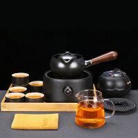 唐丰陶瓷煮茶套装家用侧把煮茶壶电热茶炉中式过滤一体陶壶电热炉