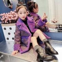 女童大衣女童秋冬毛呢外套2018新款冬装韩版童装时尚洋气儿童时髦呢子大衣MYZQ66