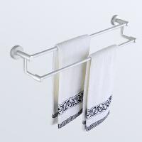 浴巾架 太空铝 双杆 浴室挂件浴室毛巾架太空铝 卫浴挂件套装